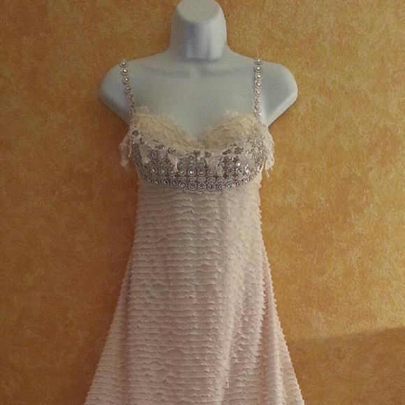 4c4aa3ea79 Hollywood Glam Ivory Silver Backless Wedding Gown. NWT. Sebrina Love / Sebrina  Love Bridals